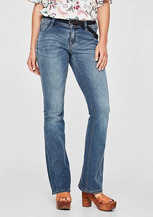 Shape Bootcut: jeans hlače s pletenim pasom