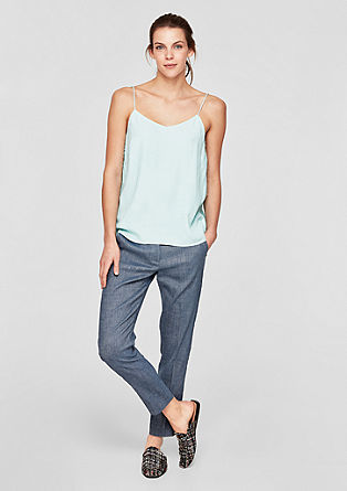 Shape Ankle: Blended linen trousers from s.Oliver