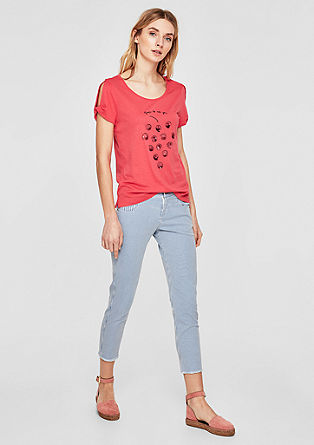 Shape Ankle: Striped jeans from s.Oliver