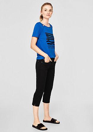 Shape capri: elastische twill broek