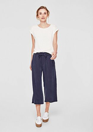 Culottes: airy twill trousers from s.Oliver