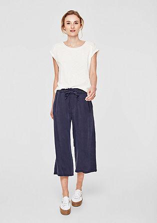Jupe-culotte: Pantalon en twill vaporeux de s.Oliver