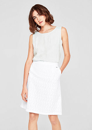 Broderie anglaise skirt from s.Oliver