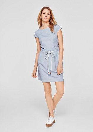 Maritimes Kleid mit Kordelgürtel