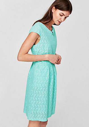Cotton dress with an openwork pattern from s.Oliver