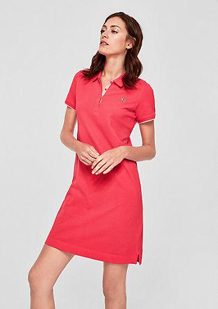 Kurzes Kleid im Polo-Look