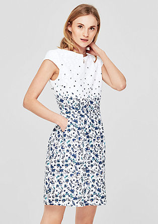 Openwork dress with a floral pattern from s.Oliver