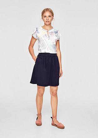 Luchtige blouse met bloemenmotief