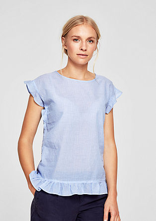Short sleeve blouse with flounces from s.Oliver