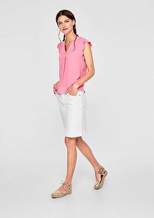 Mouwloze blouse met een V-hals