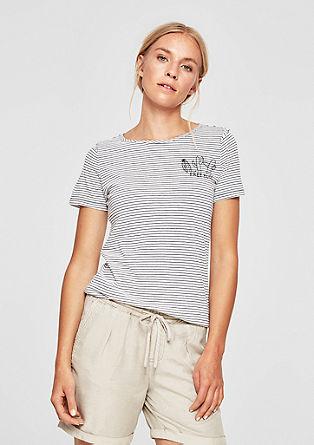 T-shirt rayé à imprimé scintillant de s.Oliver