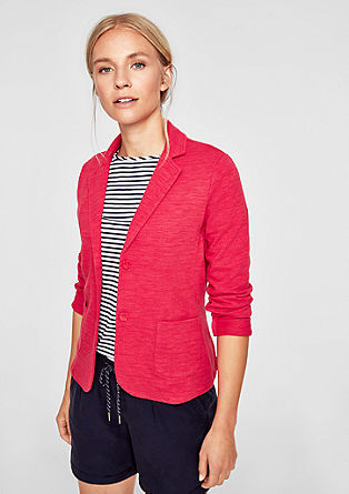 Sweatshirt blazer in a tonal design from s.Oliver