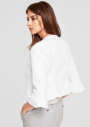 Jeansjacke mit Volantärmeln