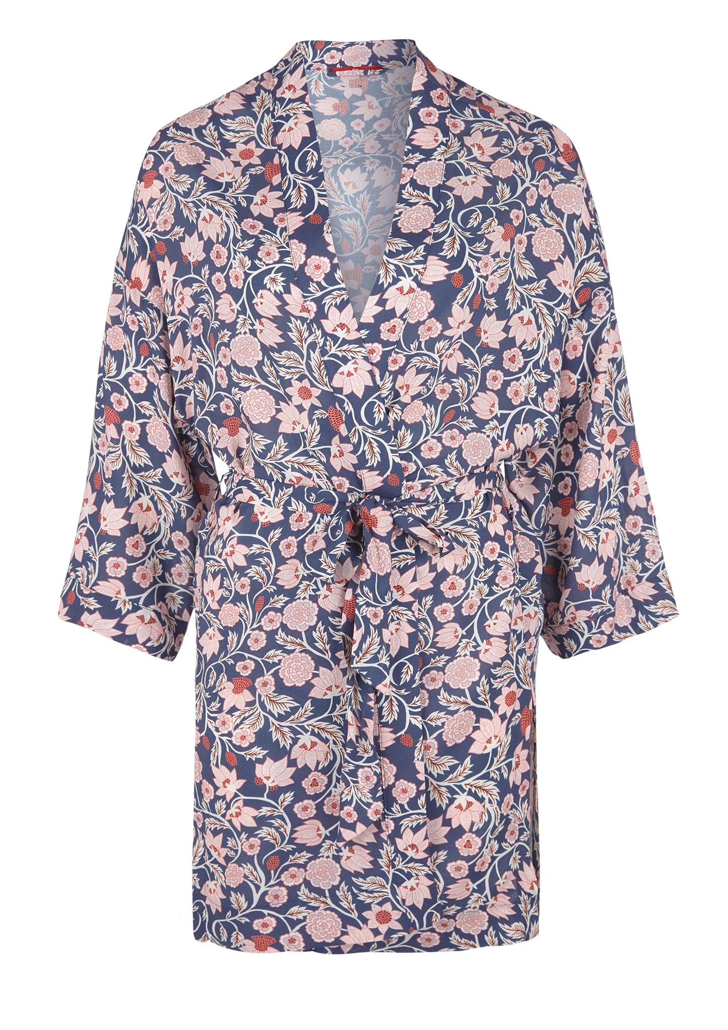 Kimono | Bekleidung > Homewear > Kimonos | Blau | 100% viskose | s.Oliver
