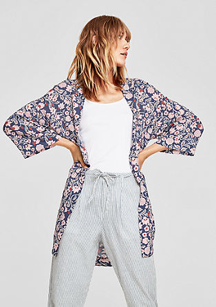 Kimono met bloemenmotief