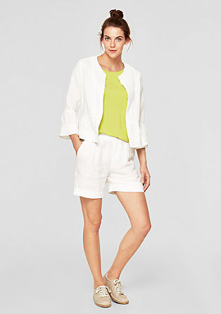 Linen blazer with lace from s.Oliver
