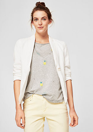 Linen blazer with a garment-washed effect from s.Oliver