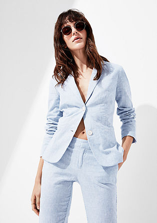 Finely striped linen blazer from s.Oliver