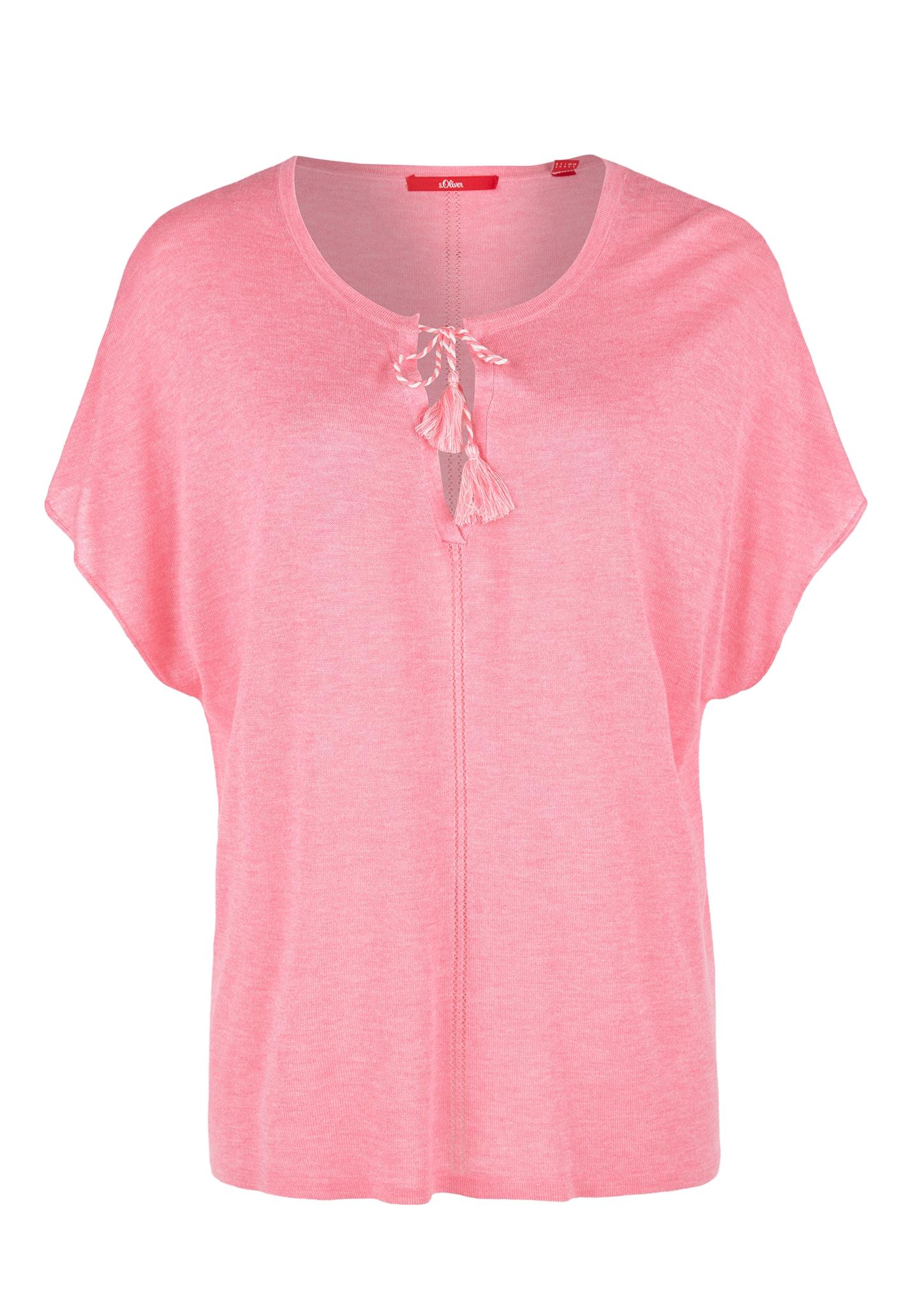 Kurzarmpullover | Bekleidung > Pullover > Kurzarmpullover | Rosa | 80% viskose -  20% polyester | s.Oliver