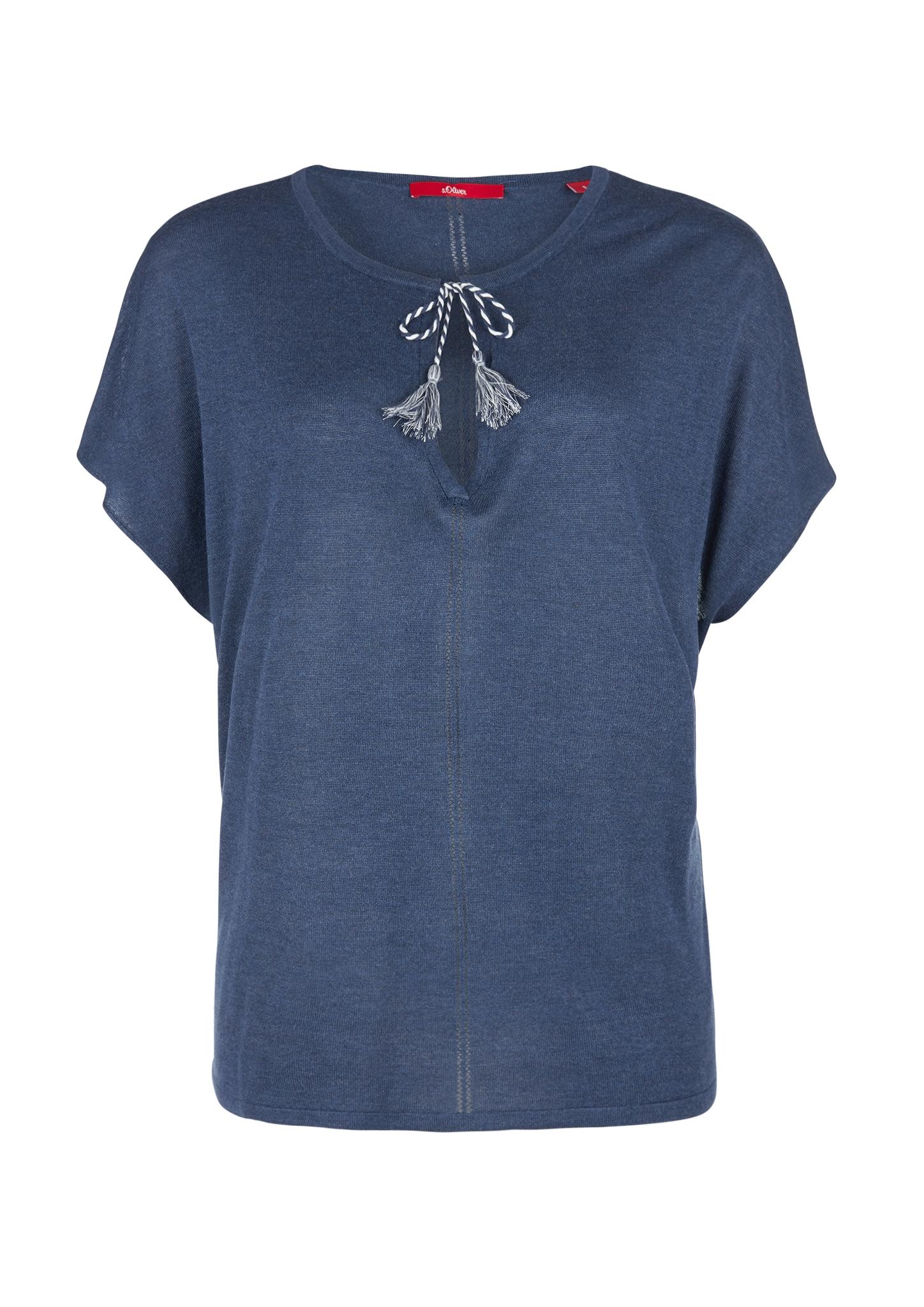 Kurzarmpullover | Bekleidung > Pullover > Kurzarmpullover | Blau | 80% viskose -  20% polyester | s.Oliver