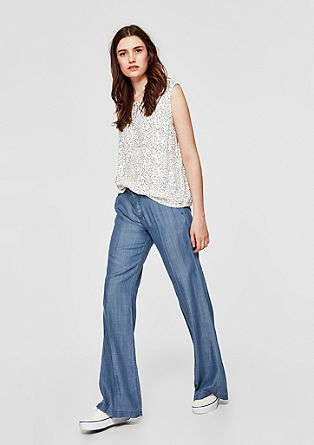 Smart Wide: Denim-Hose