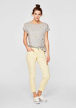 Shape Ankle: Jeans mit Fransen