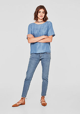 Shape Ankle: jeans with tuxedo stripes from s.Oliver