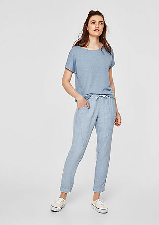 Smart Chino: linen trousers from s.Oliver