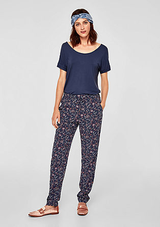 Casual viscose trousers from s.Oliver
