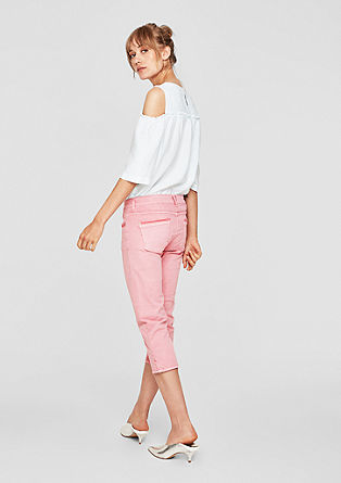 Shape Capri: Jeans in Fade-Out-Optik
