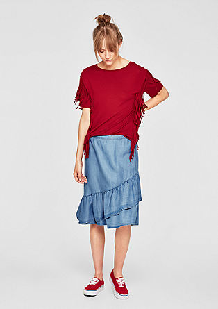 Summer denim flounce skirt from s.Oliver