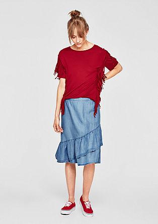 Volánová sukně z letního denimu