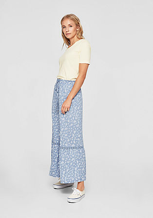 Maxi skirt with a floral pattern from s.Oliver