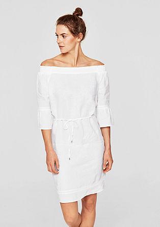 Offshoulder jurk van linnen