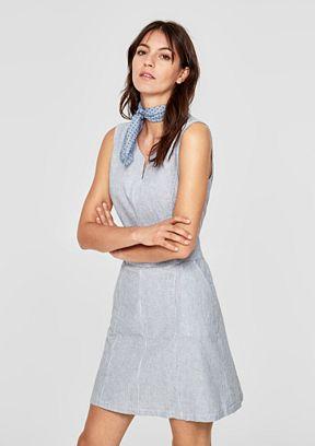 Sommerkleid aus Leinen-Mix