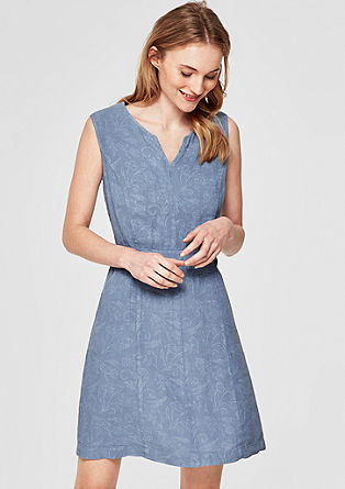 Garment-dyed linen dress from s.Oliver