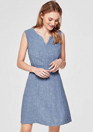 Garment Dye-Leinenkleid