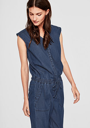 Denim jumpsuit with embroidery from s.Oliver