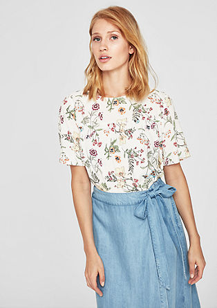 Blouse with a floral pattern from s.Oliver