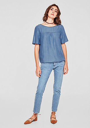 Blouse top in a denim look from s.Oliver