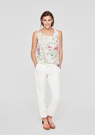 Blouse top with a floral print from s.Oliver