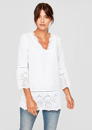 Delicate tunic blouse with openwork pattern from s.Oliver