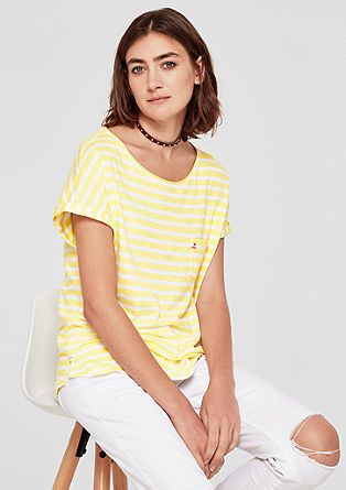 Oversized top with stripes from s.Oliver