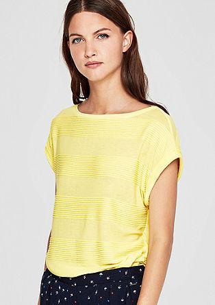 Shirt mit Streifenstruktur