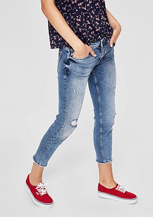 Shape Ankle: Destroyed Denim