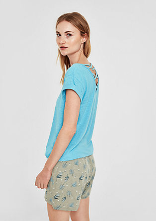 Vzorčaste kratke hlače iz džersija