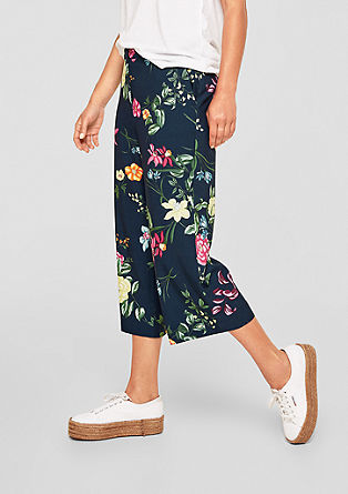 Culottes with a floral print from s.Oliver