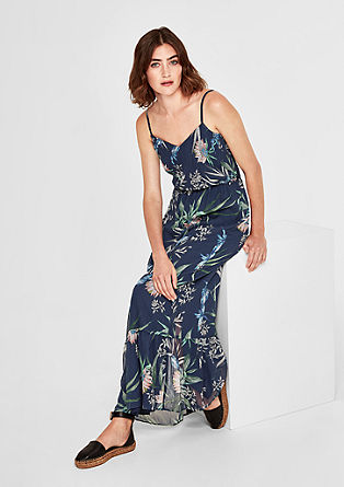 Long chiffon dress with print from s.Oliver