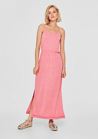 Maxi dress with crochet lace edging from s.Oliver