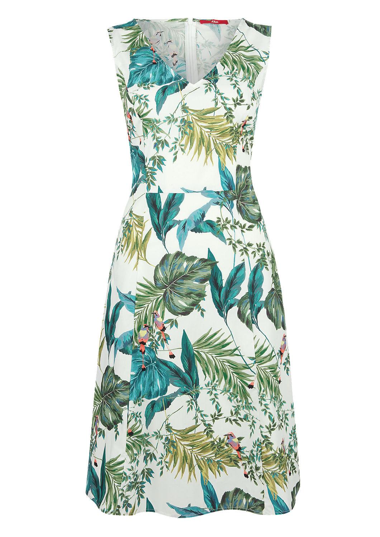 Outlet-Store wie man kauft Modestil von 2019 Fit & Flare-Kleid mit Jungle-Print kaufen   s.Oliver Shop